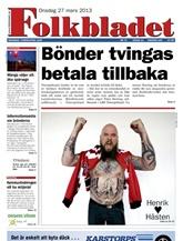 Folkbladet omslag